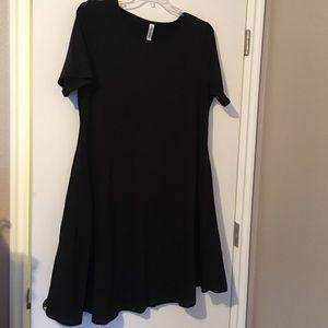 NWOT Black Swing Dress with Pockets XXL
